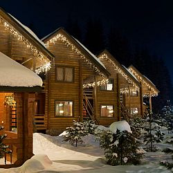 Blumfeldt Icicle-480-WW LED vianočné osvetlenie, cencúle, 24m, 480 LED svetielok, teplá biela farba