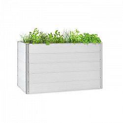 Blumfeldt Nova Grow, záhradný záhon, 150 x 91 x 100 cm, WPC, drevený vzhľad, biely