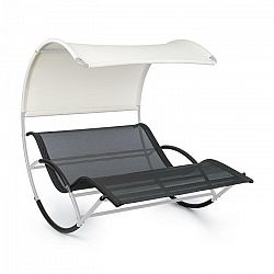 Blumfeldt The Big Easy, hojdacie ležadlo, nepremokavé, 350 kg max., UV ochrana, strieborné