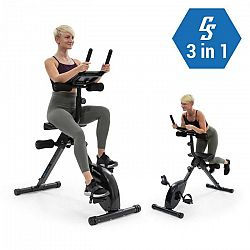 Capital Sports Azura Fusion, domáci cyklo trenažér, 3 v 1, kardio/stacionárny bicykel, AB trenažér