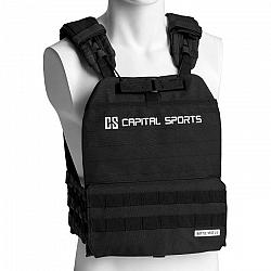 Capital Sports Battlevest 2.0, záťažová vesta, 2 x 2 závažia 2,6 & 4,0 kg, čierna