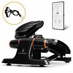Capital Sports Galaxy Step, mini stepper, prémiové plochy na stúpanie, LCD displej, aplikácia, oranžový