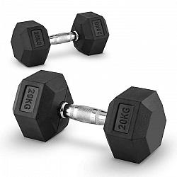 Capital Sports Hexbell 20 Dumbbell, pár jednoručných činiek, 20 kg