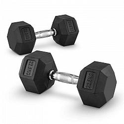 Capital Sports Hexbell 22.5 Dumbbell, pár jednoručných činiek, 22.5 kg