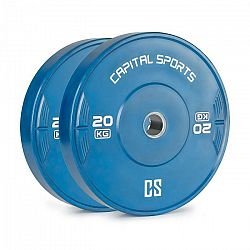 Capital Sports Nipton 20, kotúč, závažie, 2 x 20 kg, tvrdená guma, modrý