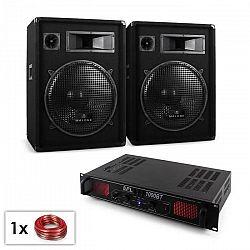 "Electronic-Star DJ PA sada ""Malone Bluetooth SPL"", pár 15"" (38 cm) reproduktor & zosilňovač 1000 W"