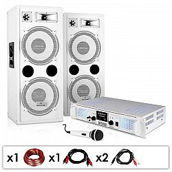 "Electronic-Star DJ PA systém ""DJ-22"", zosilňovač, reproduktory, mikrofón, kábel, 2 x 350 W"