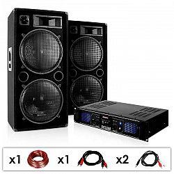 "Electronic-Star DJ PA systém ""DJ-42"", zosilňovač, reproduktor 3000 W"