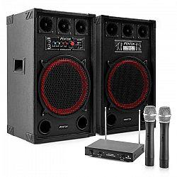"Electronic-Star Karaoke set ""STAR-Kreuzberg"" PA reproduktory, bezdrôtový mikrofón, 800W"