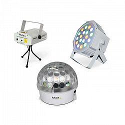 Ibiza BAT-KIT, sada svetelných efektov, Astro efekt, Firefly laser, PAR reflektor