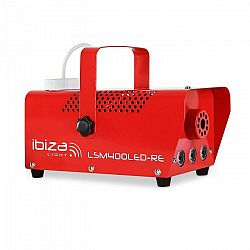 Ibiza LSM400LED-RE, mini dymostroj, 410 W, LED svetlá, červený