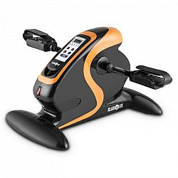 KLARFIT Cycloony Mini Bike, pohybový tréner, motor, 120 kg, diaľkové ovládanie, čierny