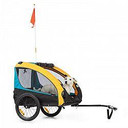 KLARFIT Husky Race, príves na bicykel pre psov, 282L, 40KG, 600D, oxfordské plátno, modrý