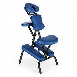 KLARFIT MS 300 masážne kreslo tetovacie kreslo 120 kg prenosná taška modrá farba