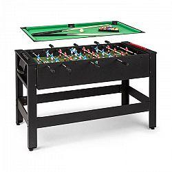 KLARFIT Spin 2 v 1, hrací stôl, biliard, kalčeto, 180° otočný, hracie príslušenstvo, čierny