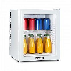 Klarstein Brooklyn 32 White, mini chladnička, energetická trieda A, sklenené dvere, LED, polica, biela