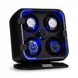 Klarstein Clover, naťahovač na hodinky, 4 hodiniek, 3 otáčania, 4 rýchlosti, modré LED osvetlenie, plastový kryt