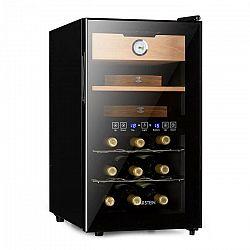 Klarstein El Dorado, humidor & vinotéka, 100 W, dotykový, 48 l, LED, čierny