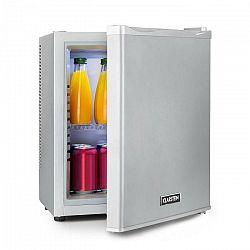 Klarstein Happy Hour 19, minibar, 19 l, 5 – 15 °C, energetická trieda A, tichý, 0 dB, LED svetlo, strieborný