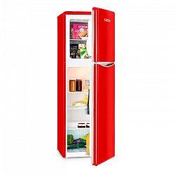 Klarstein Monroe XL Red kombinovaná chladnička s mrazničkou, 97/39 l, A+, retrolook, červená farba