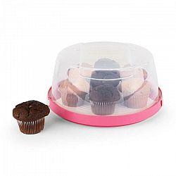 Klarstein Pinkkäppchen, ružový, kryt na tortu, box na koláč, Ø26 cm