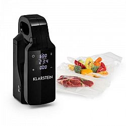 Klarstein Quickstick Free, Sous Vide varič, 0 - 95 °C, LCD dotykový displej, čierne