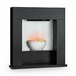 Klarstein Studio-8, elektrický krb, 2000 W, ilúzia plameňov, 40 m², MDF, čierny
