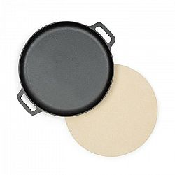 Klarstein Tomahawk 3.1 S, sada na opekanie & pečenie, panvica, kameň na pizzu, Ø 29 cm
