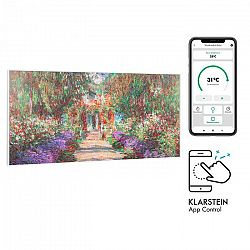 Klarstein Wonderwall Air Art Smart, infračervený ohrievač, 120 x 60 cm, 700 W, aplikácia, záhradná cesta