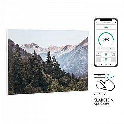 Klarstein Wonderwall Air Art Smart, infračervený ohrievač, 80 x 60 cm, 500 W, nástenná montáž, hora