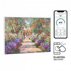 Klarstein Wonderwall Air Art Smart, infračervený ohrievač, 80 x 60 cm, 500 W, záhradná cesta