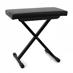 Malone Piano Bench, stolička ku klávesom, výškovo nastaviteľná, čierna