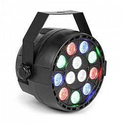 MAX Party, PAR reflektor, 12 x 1 W RGBW LED diódy, DMX, samostatná prevádzka, ovládanie zvukom, 7 kanálov