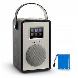 Numan Mini Two Design, internetové rádio, WiFi, DLNA, Bluetooth, FM, čierna vrátane nabíjacej batérie