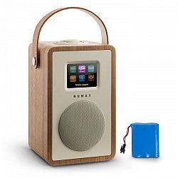 Numan Mini Two Design, internetové rádio, WiFi, DLNA, bluetooth, FM, orech, vrátane nabíjacej batérie