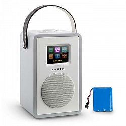 Numan Mini Two Design internetové rádio WiFi DLNA bluetooth FM sivá vrátane nabíjacej batérie