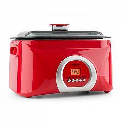 OneConcept Sanssouci, červený, Sous-Vide varič, pomalé varenie, 5 l, 300 W