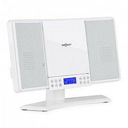 OneConcept V14, biely, vertikálny stereo systém, CD, MP3, FM, AUX