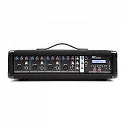 Power Dynamics 4-kanálový mixér s integrovaným zosilňovačom PDM-C405A, 800 W max., USB a SD slot