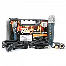 Power Dynamics PDM663, dynamický mikrofón, XLR, vrátane kábla, držiaka, adaptéra