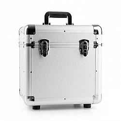 """Power Dynamics RC100, strieborný, 12"""", hliníkový kufor na platne, puzdro na vinyly, 100 LP platní"""
