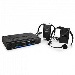 QTX Sada VHF bezdrôtových mikrofónov, 2 kanály, 2 x headset