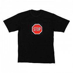 Resident DJ LED tričko STOP, veľkosť L
