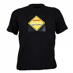 Summary Trojfarebné LED tričko, Warinig Party People, veľkosť XL