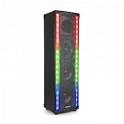 Vonyx LM80, PA reproduktor, bluetooth, 5 osvetľovacích režimov, 600W, čierna farba