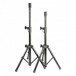 Vonyx PA reproduktorový statív-pár 2 x reproduktorový stojan príruba 69-135 cm čierna farba