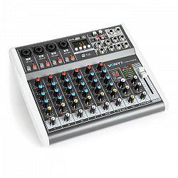Vonyx VMM-K802, 8-kanálový mixér, USB port, BT prijímač, 16 DSP, +48 V phantom napájanie