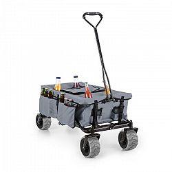 Waldbeck Greyjoy, ručný vozík, skladací, 68 kg, bočné vrecká, šedý