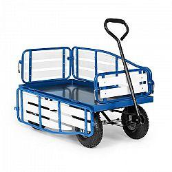 Waldbeck Ventura, ručný vozík, maximálna záťaž 300 kg, oceľ, WPC, modrý