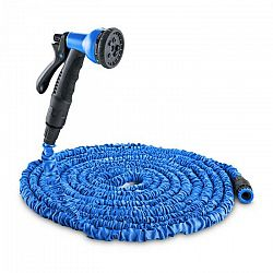 Waldbeck Water Wizard 15, flexibilná záhradná hadica, 8 funkcií, 15 m, modrá